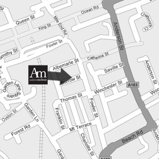 location map of Andrew Mclean Estate Agents South Shields